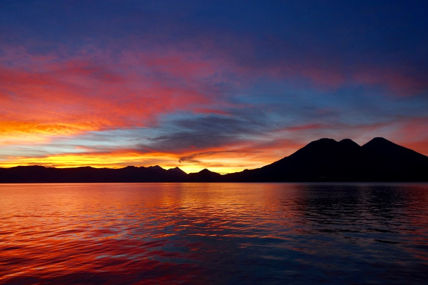 Guatemala sunrise, lake atitlan sunrise
