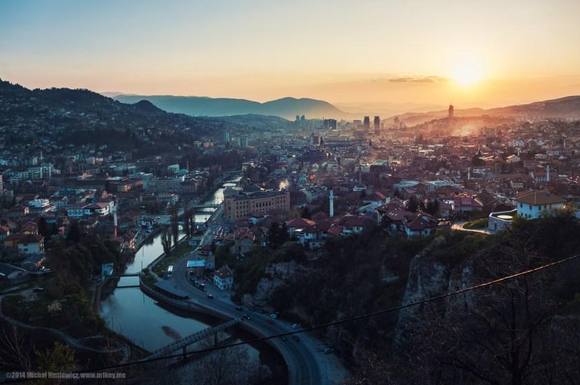 Sarajevo sunset, bosnia and herzegovina photos, bosnia travel blog