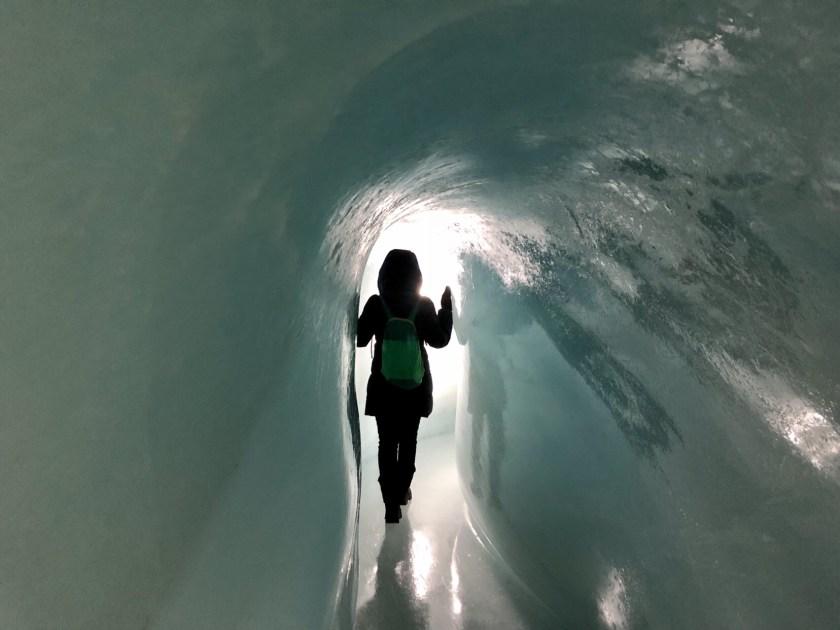 Ice tunnel switzerland, jungfraujoch