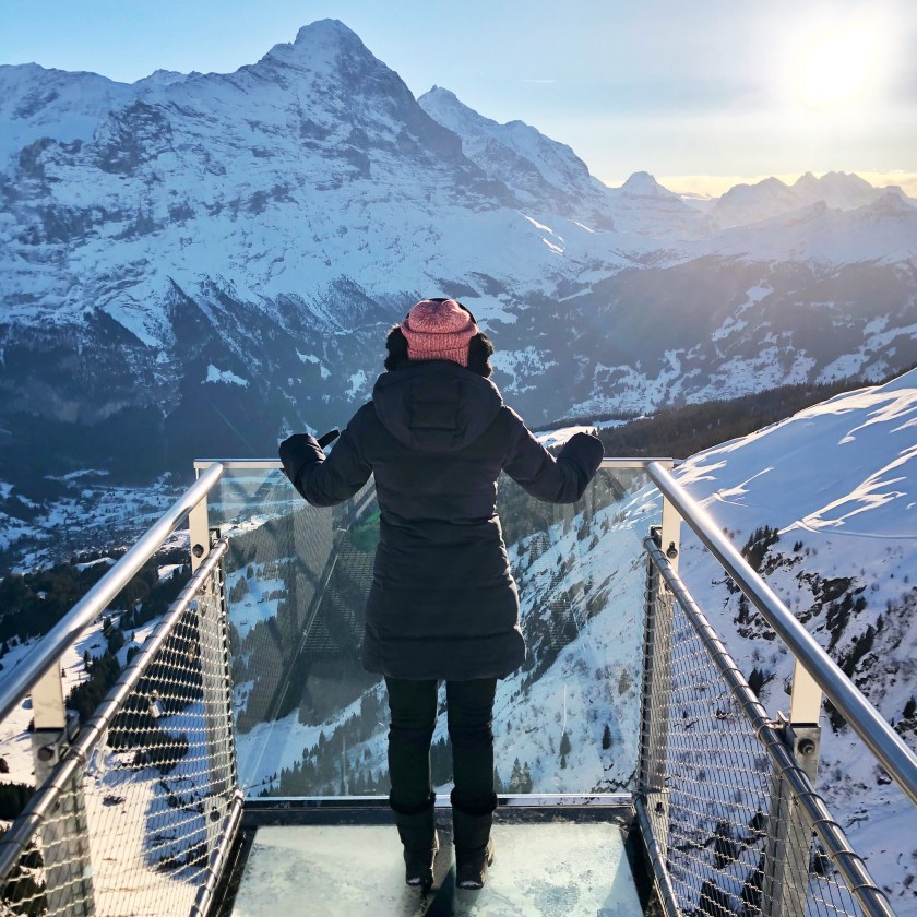 grindelwald, first cliff walk, switzerland winter travel, shivya nath switzerland