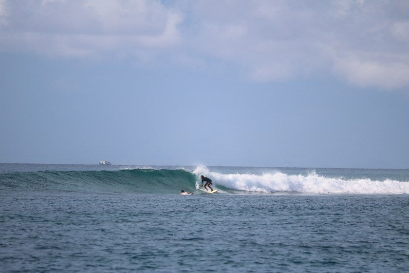 female surfers, maldives surfing, solo travel blog
