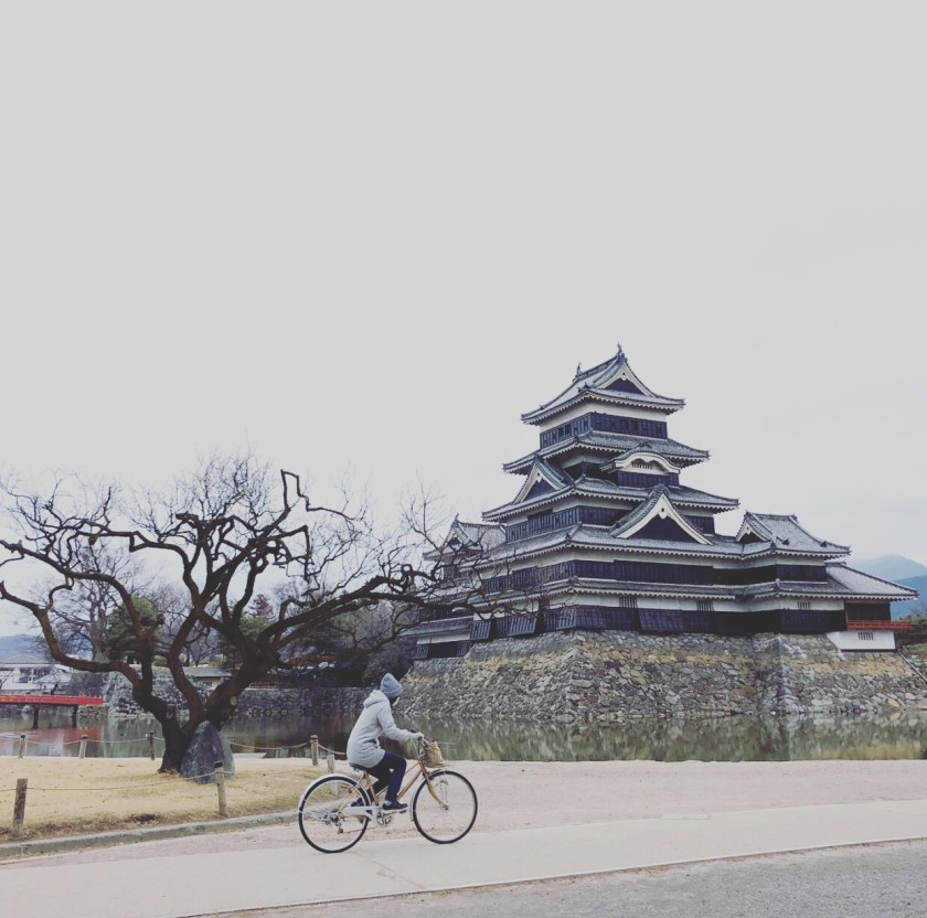matsumoto castle, cycling japan