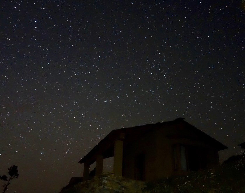 shooting stars in india, stargazing india, goat village uttarakhand