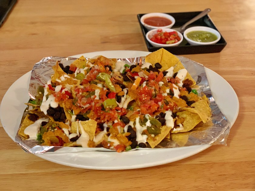 salsa kitchen, vegan nachos