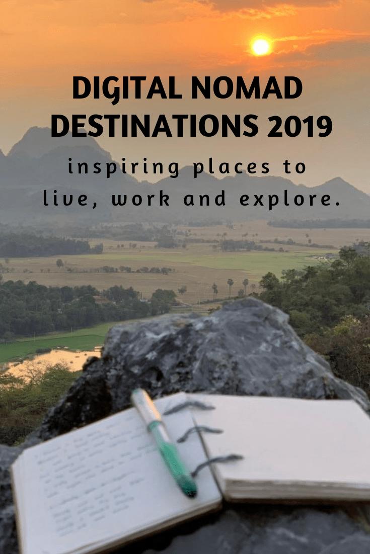 Digital nomad destinations 2019, digital nomad cities, digital nomad hubs