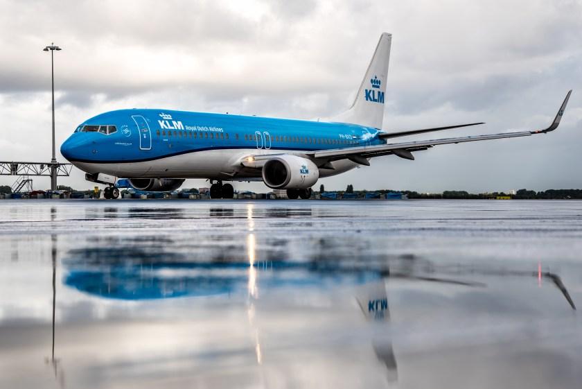 KLM flight, fly responsibly