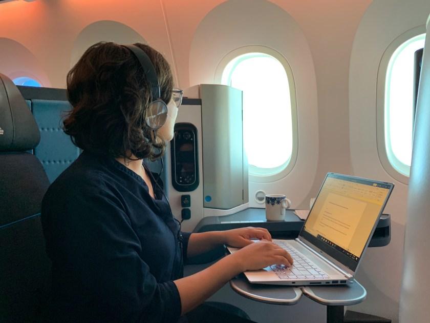 KLM flight Delhi to Amsterdam