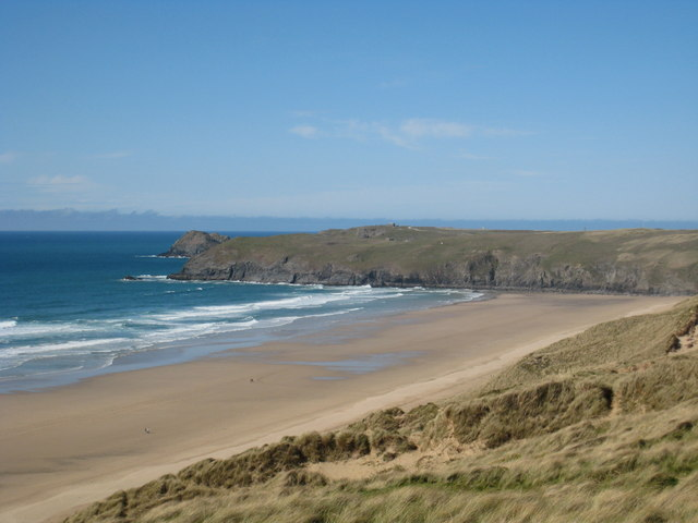 View_along_the_coast_towards_Ligger_Point_from_Penhale_Sands_-_geograph.org.uk_-_780192