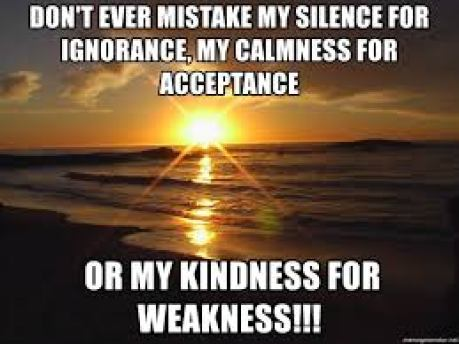 Image result for don't mistake my kindness for weakness memes