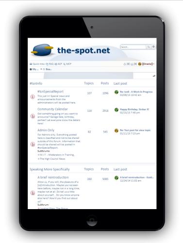 tsn8, Forum Index on the iPad Mini