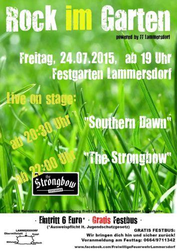 Plakat-Rock im Garten 4.0 mit Coverband Strongbow