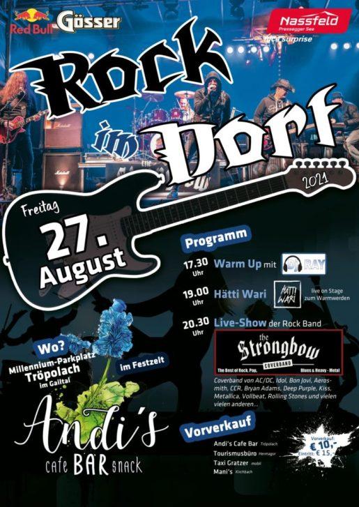 Plakat - Rock im Dorf 2 - The Strongbow Rockband