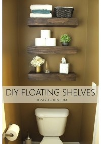 DIY Floating Bathroom Shelves // Or A Creative Way to ...