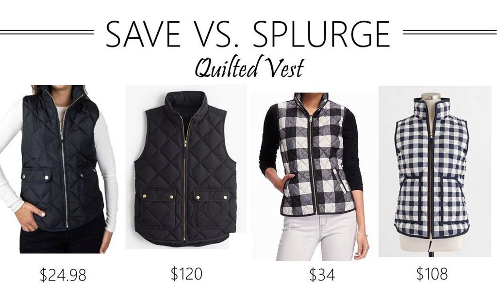 Save vs. Splurge // Quilted Vest
