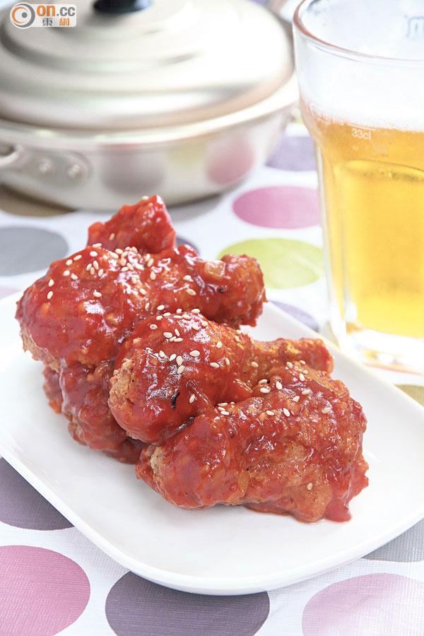 香辣惹味韓式醃醬炸雞 - 太陽報