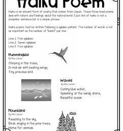 Haiku Poetry for Upper Elementary – The Teacher Next Door [ 1024 x 791 Pixel ]