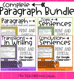Teaching Paragraph Writing: Conclusions – The Teacher Next Door [ 960 x 960 Pixel ]