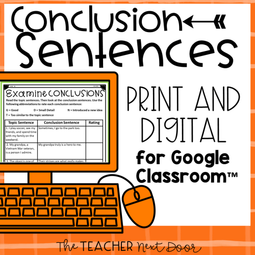 small resolution of Teaching Paragraph Writing: Conclusions – The Teacher Next Door