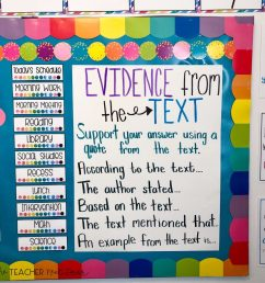 Teaching Text Evidence – The Teacher Next Door [ 1024 x 1024 Pixel ]