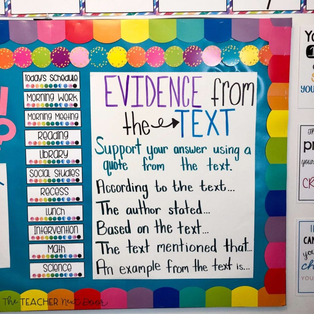 medium resolution of Teaching Text Evidence – The Teacher Next Door