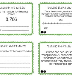 FREE 3rd Grade Rounding Whole Numbers Task Cards – The Teacher Next Door [ 816 x 1056 Pixel ]