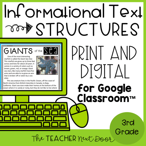 small resolution of 3rd Grade Informational Text Structures: Print and Digital – The Teacher  Next Door