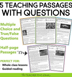 3rd Grade Informational Text Structures: Print and Digital – The Teacher  Next Door [ 960 x 960 Pixel ]
