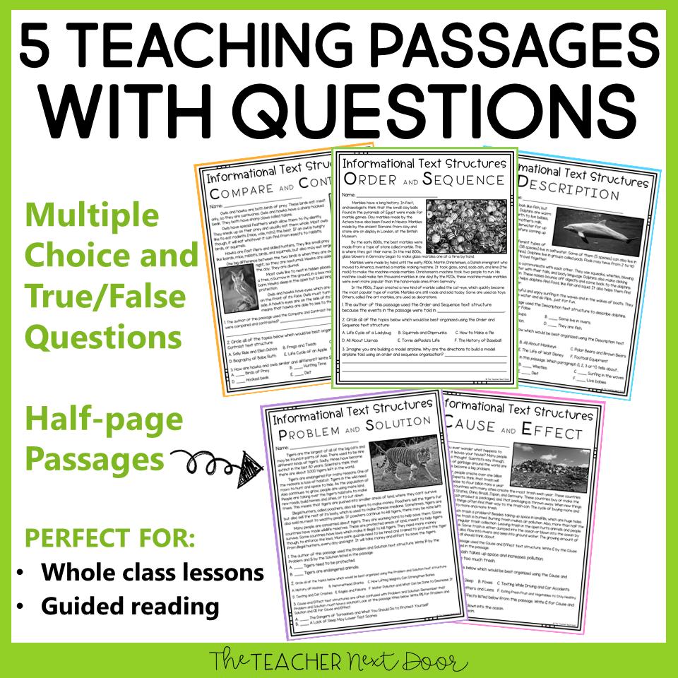hight resolution of 3rd Grade Informational Text Structures: Print and Digital – The Teacher  Next Door
