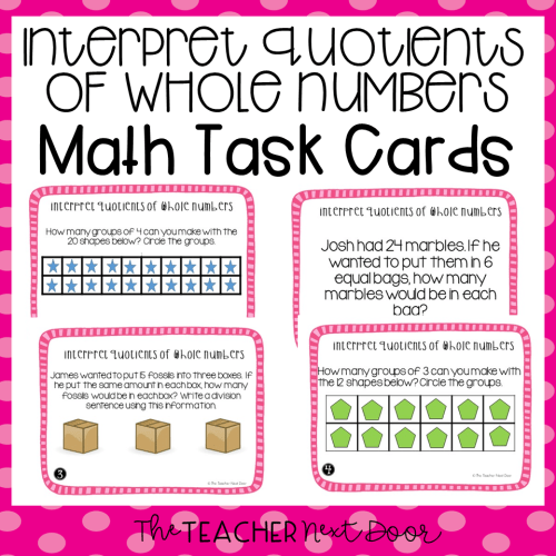 small resolution of 3rd Grade Interpret Quotients of Whole Numbers Task Cards   Division Center  – The Teacher Next Door