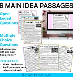 3rd Grade Main Idea Print and Digital for Google Classroom™ – The Teacher  Next Door [ 960 x 960 Pixel ]