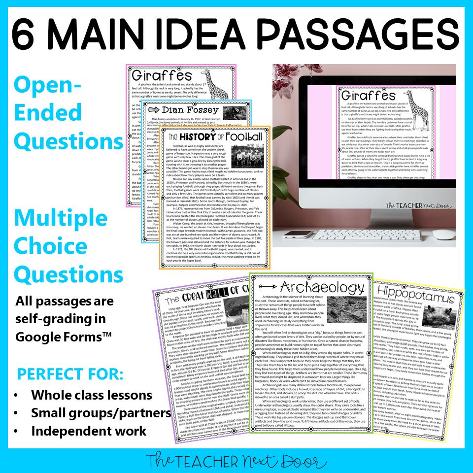 hight resolution of 3rd Grade Main Idea Print and Digital for Google Classroom™ – The Teacher  Next Door
