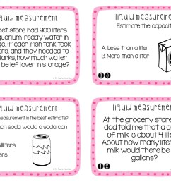 3rd Grade Measurement: Liquid Volume Task Cards   Liquid Volume Math Center  – The Teacher Next Door [ 816 x 1056 Pixel ]