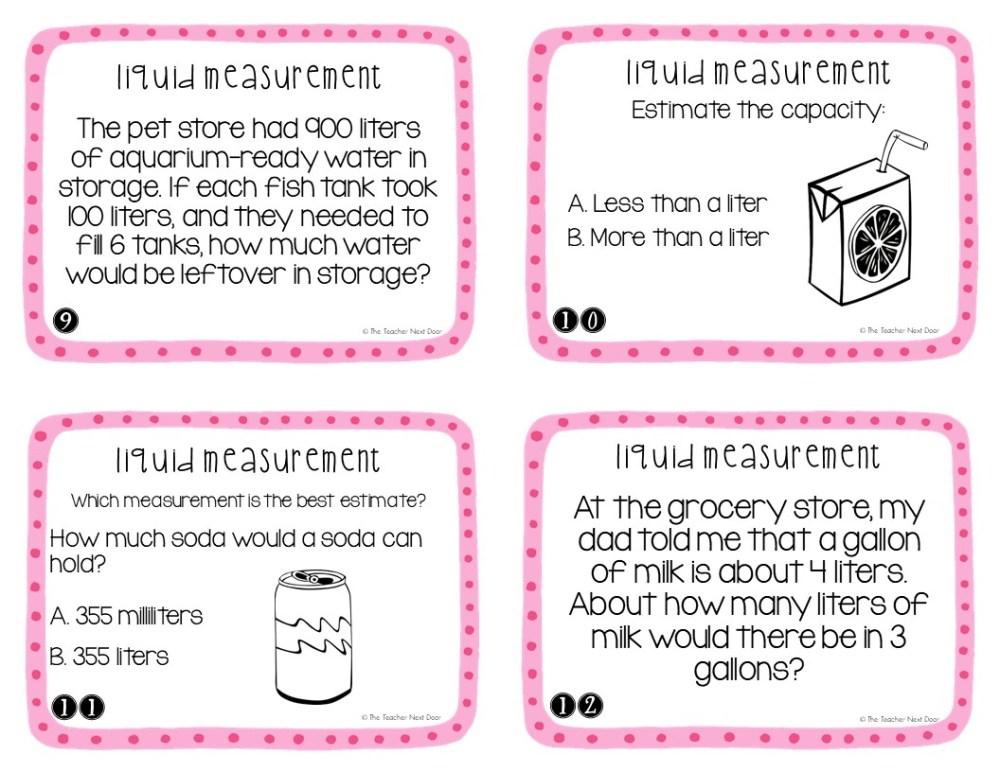 medium resolution of 3rd Grade Measurement: Liquid Volume Task Cards   Liquid Volume Math Center  – The Teacher Next Door