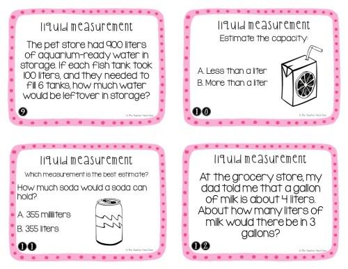 small resolution of 3rd Grade Measurement: Liquid Volume Task Cards   Liquid Volume Math Center  – The Teacher Next Door