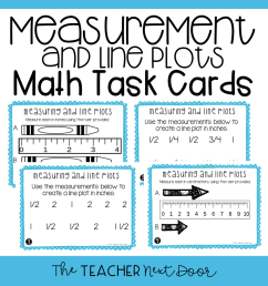 3rd Grade Measuring and Line Plots Task Cards (Inches and Centimeters) –  The Teacher Next Door [ 960 x 960 Pixel ]