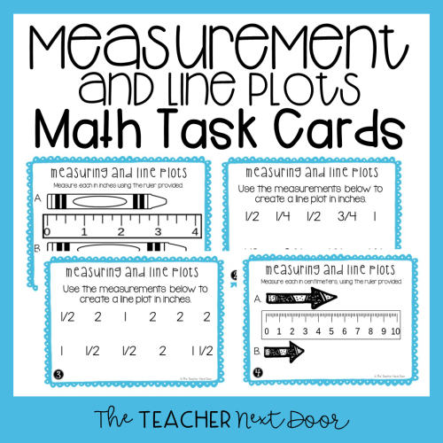 small resolution of 3rd Grade Measuring and Line Plots Task Cards (Inches and Centimeters) –  The Teacher Next Door