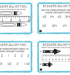 3rd Grade Measuring and Line Plots Task Cards (Inches and Centimeters) –  The Teacher Next Door [ 816 x 1056 Pixel ]