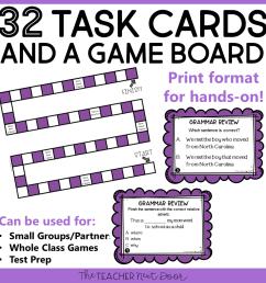 Grammar Review Game for 4th Grade Print and Digital – The Teacher Next Door [ 960 x 960 Pixel ]