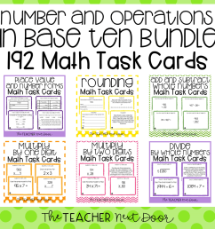 4th Grade Number and Operations in Base Ten Task Card Bundle – The Teacher  Next Door [ 960 x 960 Pixel ]