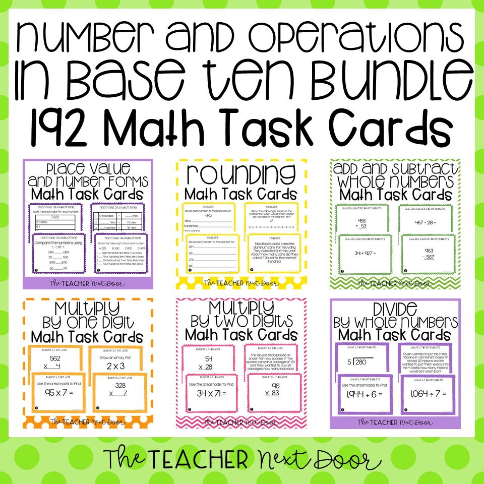 hight resolution of 4th Grade Number and Operations in Base Ten Task Card Bundle – The Teacher  Next Door
