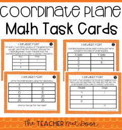 5th Grade Coordinate Plane Task Cards   Coordinate Plane Center – The  Teacher Next Door [ 960 x 960 Pixel ]