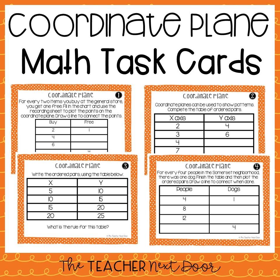 hight resolution of 5th Grade Coordinate Plane Task Cards   Coordinate Plane Center – The  Teacher Next Door