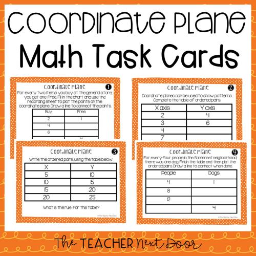 small resolution of 5th Grade Coordinate Plane Task Cards   Coordinate Plane Center – The  Teacher Next Door