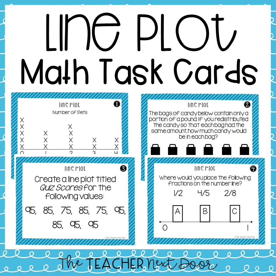 medium resolution of 5th Grade Line Plots With Fractions Task Cards – The Teacher Next Door