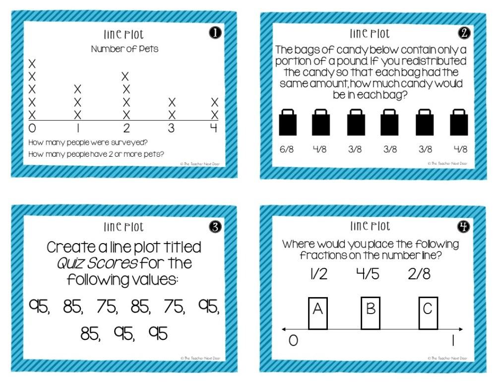 medium resolution of 5th Grade Line Plots With Fractions Task Cards – The Teacher Next Door