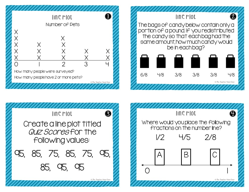 hight resolution of 5th Grade Line Plots With Fractions Task Cards – The Teacher Next Door