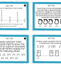 5th Grade Line Plots With Fractions Task Cards – The Teacher Next Door [ 816 x 1056 Pixel ]