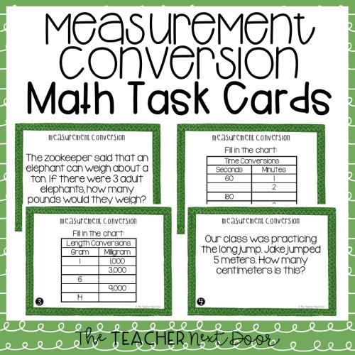 small resolution of 5th Grade Measurement Conversion Task Cards   Measurement Conversion Center  – The Teacher Next Door