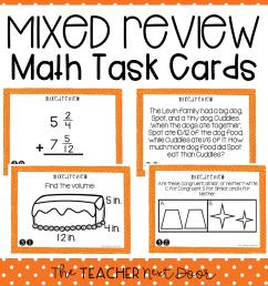 5th Grade Mixed Review Task Cards   5th Grade Test Prep Math Center – The  Teacher Next Door [ 960 x 960 Pixel ]