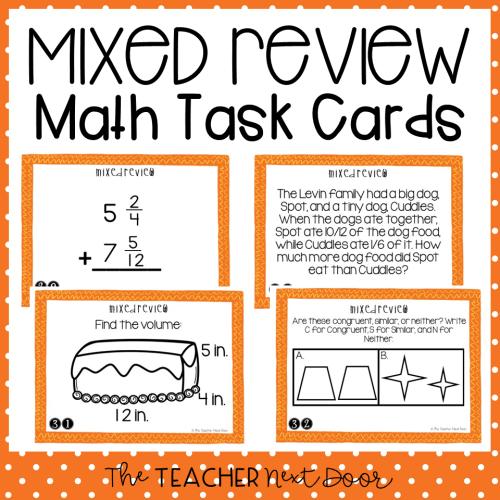 small resolution of 5th Grade Mixed Review Task Cards   5th Grade Test Prep Math Center – The  Teacher Next Door